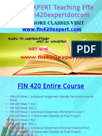 FIN 420 EXPERT Teaching Effectively Fin420expertdotcom