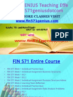 FIN 571 GENIUS Teaching Effectively Fin571geniusdotcom