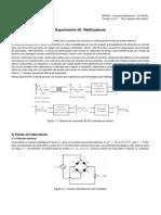 Experimento 05 de Circuitos Eletrônicos 1 - Retificadores