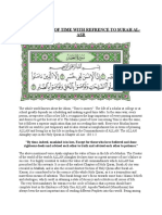 Significance of Time With Refrence to Surah Al