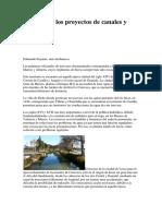 Historia de Los Proyectos de Canales y Trasvases