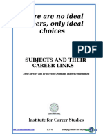 Subject and Their Career Links