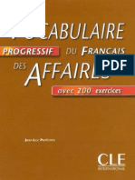Vocabulaire Progressif Du Francais Des Affaires