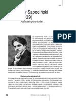 Artur Ossowski. Stanislaw Sapocinski (1904-1939)