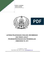 Laporan Evaluasi Program Pencegahan Dan Pengendalian Kebakar