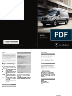 2015 Mercedes Benz Sprinter Operators Manual