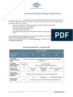 Design Requirements for Reciprocating Compressors