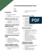 Salesforce Course Outline