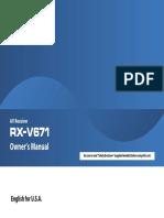 RX V671 Manual