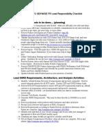 BTS FR Checklist Item Description