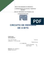 Circuito de Memoria de 4 Bits