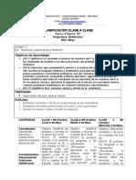 Planificacion Clase a Clase Matematica