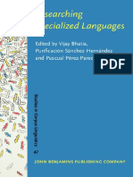 Bhatia, Hernández, Pérez-Paredes - 2001 - Researching Specialized Languages