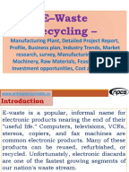 E waste recycling business plan