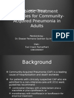 antibiotic treatment strategies for community acquired pneumonia in adults