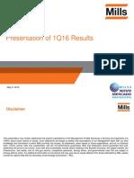 1Q16 Presentation of Results