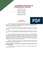D.L. 21621-Ley de La Empresa Individual de Responsabilidad Limitada