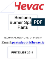 Bentone Oil Burner Parts