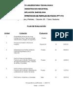 Plan de Evaluacion Perfiles (Período I-2016)