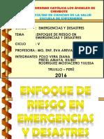 ENFOQUE DE RIESGO EN EMERGENCIAS Y DESASTRES