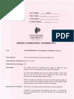 Acst403 2012 Exam