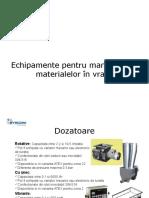 Echipamente Pentru Manipularea Materialelor in Vrac