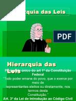 Hierarquia Das Leis - ENGENHARIA DA SEGURANÇA DO TRABALHO