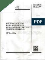 Codigo Nacional Para Ascensores de Pasajeros. Trafico Vertical. 621-3-97 (1)