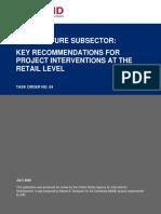 Aquaculture Key Recommendation