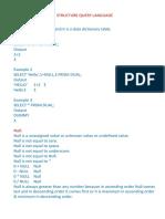 Importants in SQL