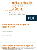 wages salaries in nursing and social work
