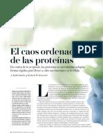 El Caos Ordenado de Las Proteinas