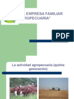 La Empresa Familiar. La Empresa Familiar Agropecuaria