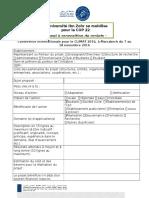 APPEL a Proposition Projets COP 22_version FR