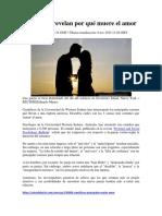 Amor y El Matrimonio, Científicos Revelan Por Qué Muere El