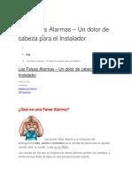 Las Falsas Alarmas
