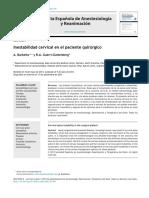 Inestabilidad Cervical en e Lpte Quirurgico