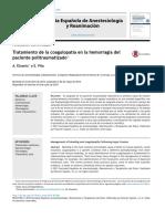 Tratamiento de La Coagulopatia en La Hemorragia Del Pte Politraumatizado