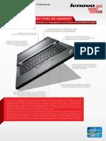 Hoja de Especificaciones Notebook T43