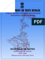 WB Pwd Schedule-sor Nh 2015-16