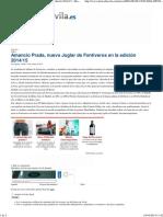 (Amancio Prada, Nuevo Juglar de Fontiveros en La Edición 2014_15 - Diario de Ávila)