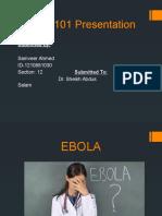 presntation on EBOLA virus