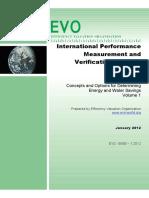 International Performance Measurement & Verification Protocol - Volume 1