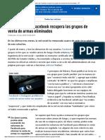 Un Directivo de Facebook Recupera Los Grupos de Venta de Armas Eliminados - RT