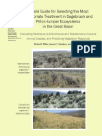 Field guide for selecting the most appropriate treatment in sagebrush and PJ ecosystems - Evaluating resilience to disturbance and resistance to invasives