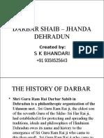 DARBAR SHAIB – JHANDA