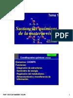 (Parte i) Sustancias Químicas de La Materia Viva