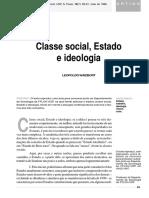 Classe Social, Estado e Ideologia - Leopoldo Waizbort
