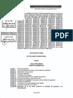 Texto Sustitutorio Ley Del Nuevo Código Penal