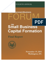SEC Forum on Small Business Capital Formation 2015